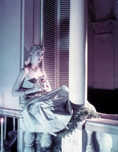 Carmen-Dell-Orefice-in-gown-by-Ceil-Chapman-Nornman-Parkinson-Vogue-US-1949-e1336922189404