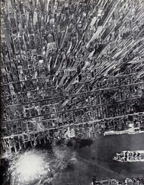 mpact vertical view of Midtown Manhattan, July 1944