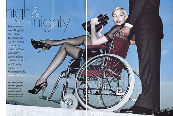nadja auermaan helmut newton vogue high & mighty handicap