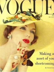 1950s Vogue magazine cover.
